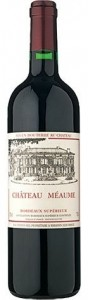 wine for steak - chateau meaume